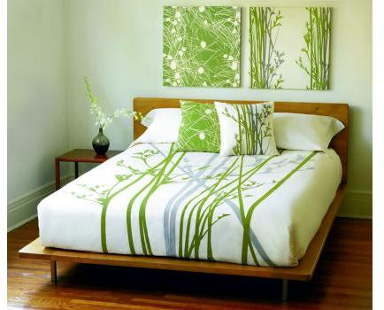 Amenity Bedding Cove Organic Cotton Duvet Cover - Cream and Moss