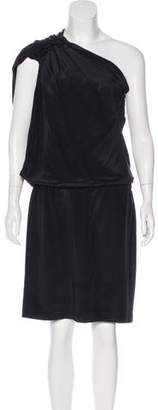 Philosophy di Alberta Ferretti One-Shoulder Knee-Length Dress