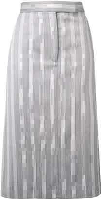 Thom Browne 4-Bar Repp Stripe Sack Skirt