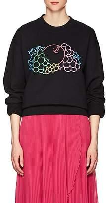 Cédric Charlier Women's Logo Cotton Fleece Sweatshirt