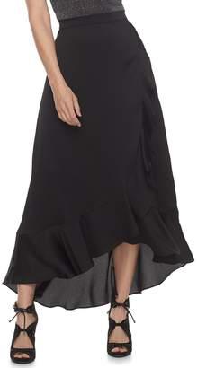 JLO by Jennifer Lopez Women's Ruffle Satin Maxi Skirt