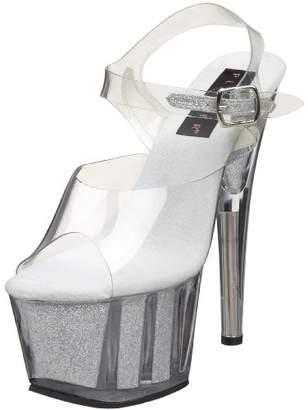 94834a6a0a3c1 Pleaser USA Silver Women's Sandals on Sale - ShopStyle