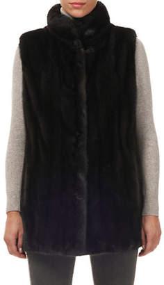 Gorski Reversible Mink-Fur Silk Taffeta Vest