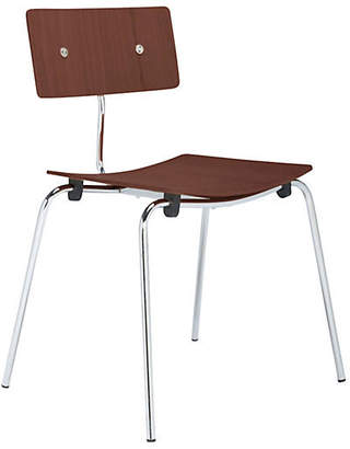 Janus et Cie Hollywood Side Chair - Silver/Cherry Brown