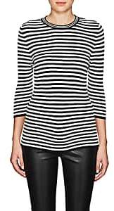 Lisa Perry Women's Striped Fitted Sweater - Black, White