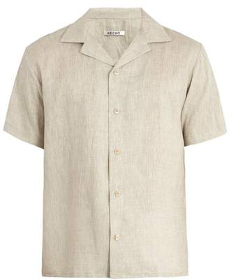BEIGE Hecho - Short Sleeved Linen Shirt - Mens