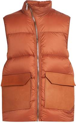 Rick Owens Mollino quilted down gilet