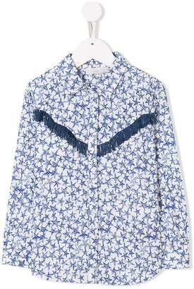 Stella McCartney star print fringed shirt