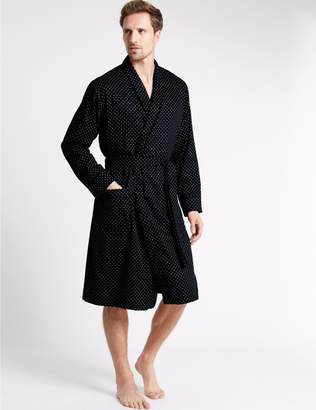 Marks and Spencer Pure Cotton Paisley Dressing Gown