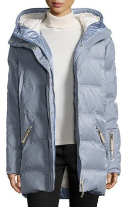 Bogner Michelin Hooded Down Coat, Platinum $1,690 thestylecure.com