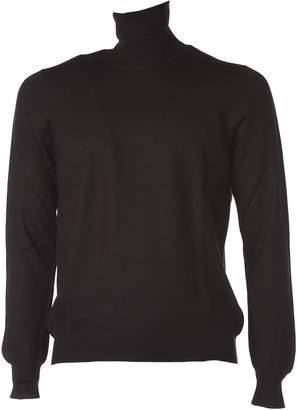 Fay Brown Turtleneck Jumper