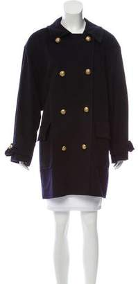 Jaeger Double-Breasted Wool Coat