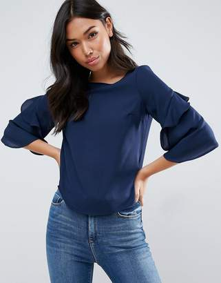 ASOS Ruffle Sleeve Tee $38 thestylecure.com