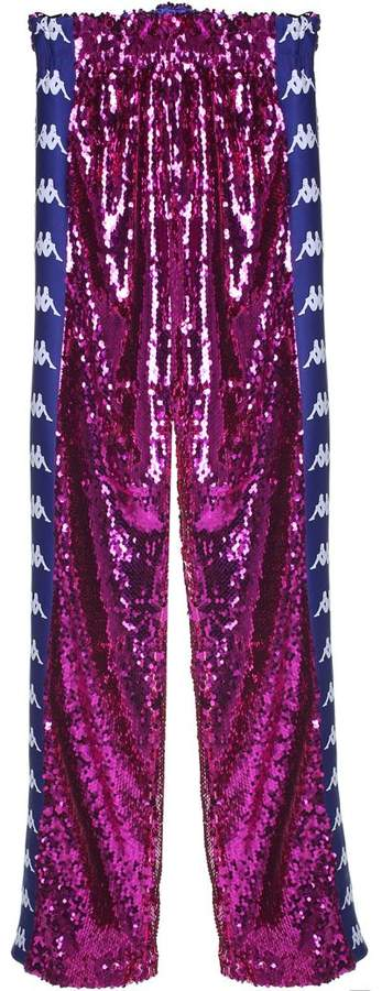 Sequin-embellished Track Pants X Kappa
