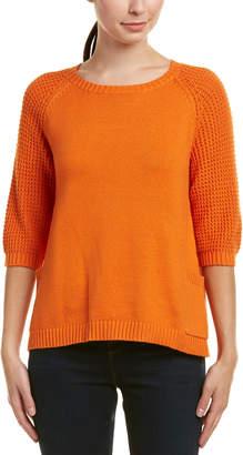 Joan Vass Cashmere-Blend Sweater