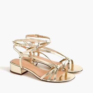 J.Crew Strappy lady sandals in metallic gold