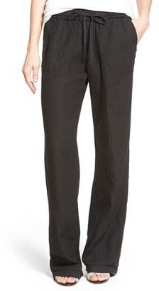 Women's Caslon Drawstring Linen Pants $59 thestylecure.com
