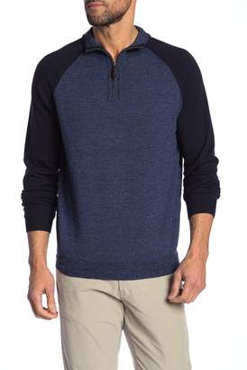 Tailor Vintage 1\u002F4 Zip Knit Merino Wool Sweater