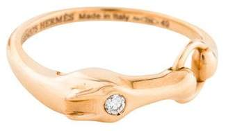 Hermes 18K Diamond Galop Ring