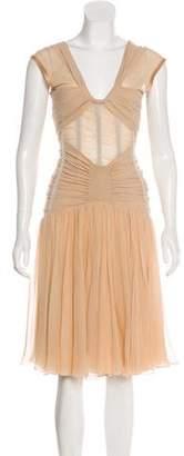 Dolce & Gabbana Mesh-Accented Sleeveless Dress
