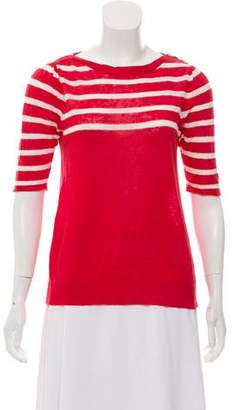 Ulla Johnson Striiped Short Sleeve Sweater