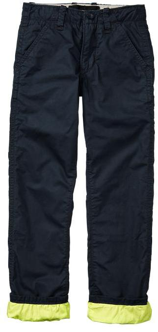 Gap Lined neon twill pants