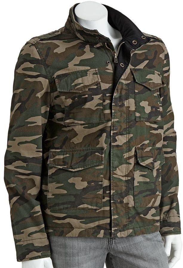 Tony hawk ® military camouflage jacket - men