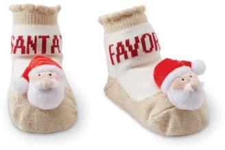 Mud Pie Christmas Boy Girl Rattle Toe Socks 0-12 mo - Reindeer Or