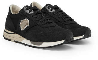 Visvim Roland Suede and Mesh Sneakers - Black