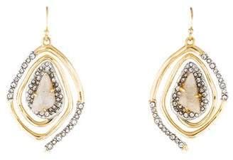 Alexis Bittar Labradorite & Crystal Spiral Drop Earrings