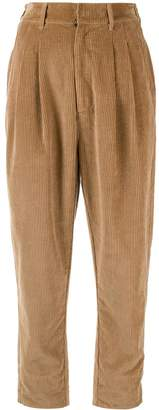 Bassike high-waist corduroy trousers