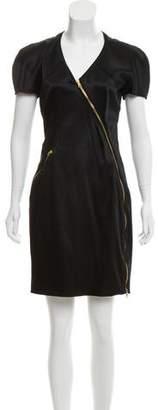 Versus Zip-Accented Satin Dress