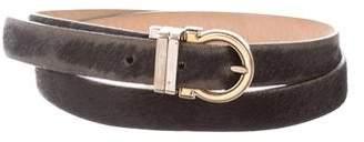 Salvatore Ferragamo Ponyhair Gancini Belt
