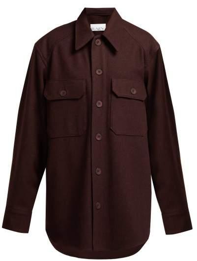 Army Wool Jacket - Womens - Burgundy