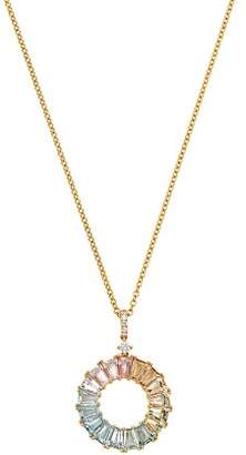 Kiki McDonough 18K Yellow Gold Rainbow Mixed Gemstone & Diamond Necklace, 18""