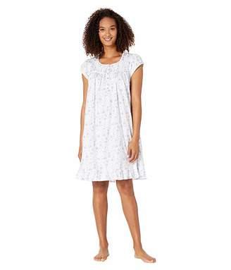 Eileen West Cotton Jersey Knit Short Sleeve Short Gown