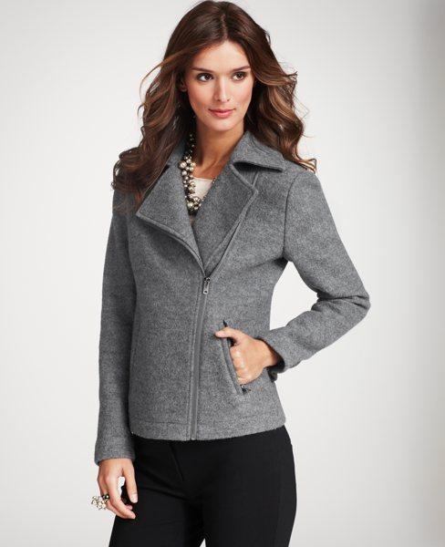 Boiled Wool Zipped Jacket