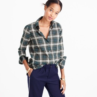 Boy shirt in crinkle plaid $88 thestylecure.com