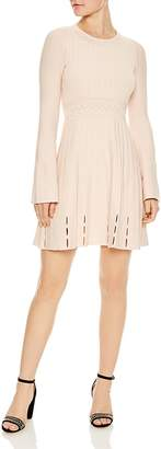 Sandro Terez Eyelet-Detail Knit Mini Dress