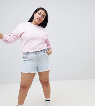 Urban Bliss Plus Distressed Waist and Hem High Waist Shorts