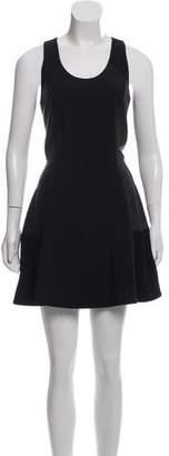 Rag & Bone Leather Paneled Mini Dress