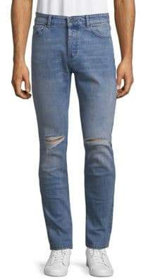 Distressed Relaxed-Fit Jeans