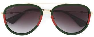 Gucci aviator shaped sunglasses