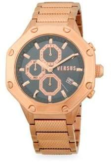 Versace Rose Goldtone Stainless Steel Chronograph Watch