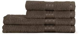 Restmor 100% Egyptian Cotton 4 Piece Supreme Towel Bale Set (500gsm) - Chocolate