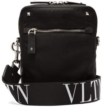 Valentino Vltn Logo Strap Cross Body Bag - Mens - Black