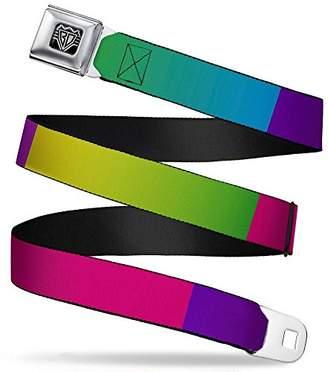 Buckle-Down Unisex-Adults Seatbelt Belt Blocks XL