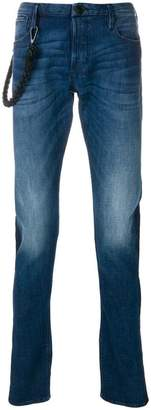 Emporio Armani straight leg stonewashed jeans
