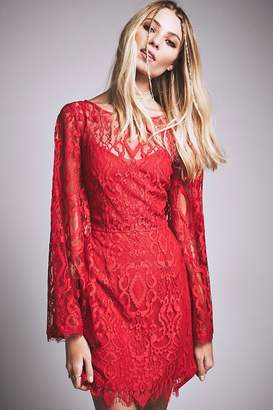 Free People Lace Bell-Sleeve Dress