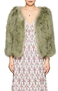Prada Women's Feather & Silk Jacket - Green